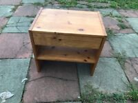 SMALL PINE BEDSIDE OR LIVING ROOM CABINET