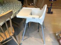 Ikea Antilop high chair with tablr