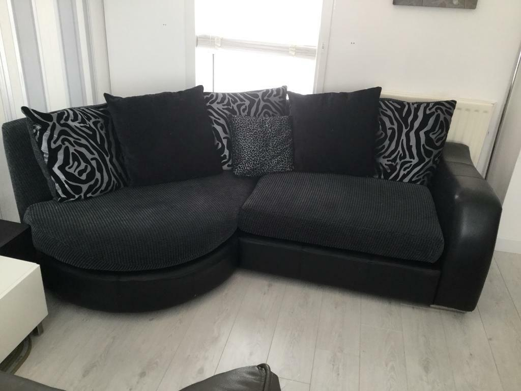 Corner Sofa Swivel Chair And Footstool