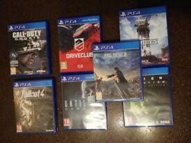 7 Playstation 4 games inc Battlefront, FFXV, Fallout 4