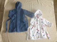 Two Little White Company Dressing Gowns (1 x 18 - 24 months and 1 x 2 - 3 years)