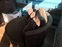 Perfect condition large brown cuddle chair