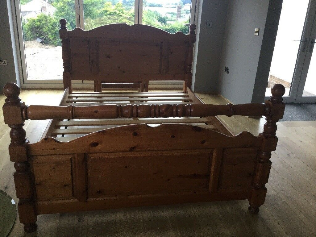 Solid Wood King Size Bed Frame In Mold Flintshire Gumtree