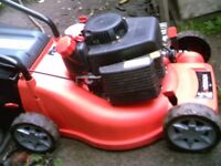 PETROL MOWER AND GRASS BOX LIKE NEW