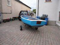 13ft Fibreglass Fishing Boat