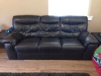 3 seater sofa and electric recliner chair