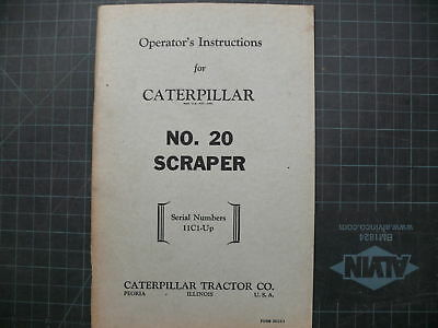 Cat Caterpillar 20 Operation Operator Guide Manual Op