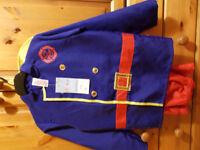 BNWT Fireman's Dress up Costume Size 7-8 years
