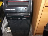 lenovo tower only,no offers,i3,3.3ghz 700gb hdd 4gb ram 1gb ati graphic card.