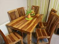 African Marocco Wood Table with 6chair rrp.1000£