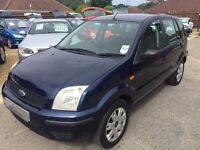 2004/04 FORD FUSION 1.4 2 5 DOOR,LOW MILEAGE,GREAT COLOUR AND CONDITION,LOOKS AND DRIVES WELL