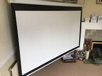 2 Projector screens. Used but usable. 84 inch and 86 inch