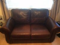 Genuine Leather 2 and 3 seater suite (brown)