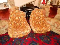 2 greaves and thomas swivel egg chair