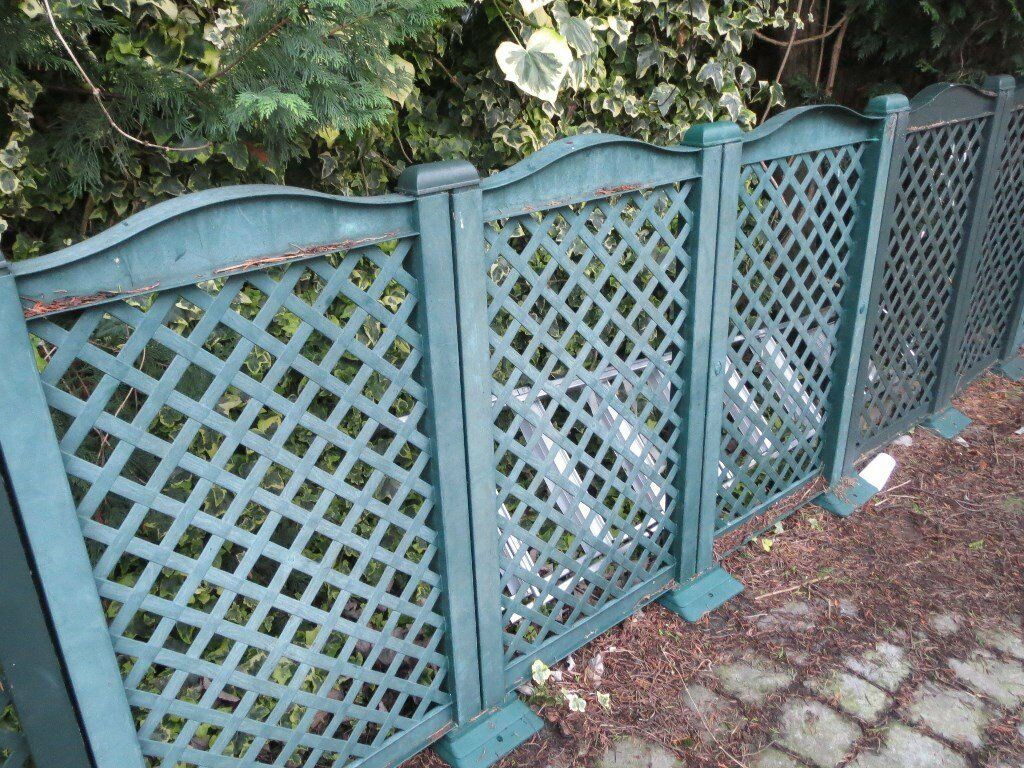 14 PVC/Plastic Garden Fence Panels- collect Orpington | in Orpington ...