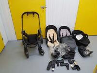 iCandy Peach 3 double buggy with cot, rain covers and car seat adapters (maxicosi)