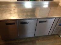 Stainless 3 door fridge for commercial kitchen