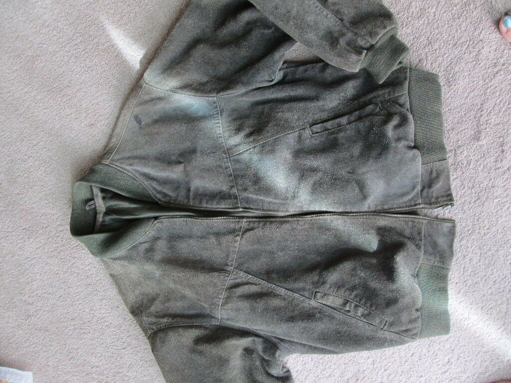 MENS REAL SUEDE LEATHER JACKET SIZE M/L