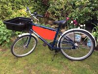 Pashley Courier Cycle/Bike with front carrier & plastic tray Ideal for Carrying Pets, Feature
