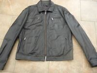 Mens Genuine 100% CALF LEATHER JACKET FROM CALVIN KLEIN - SIZE 44