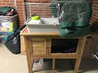[NEED TO GO ASAP] Rabbit/guinea pig hutch with cover and cage