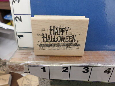 happy halloween saying bag costume trick treat NEW rubber stamp - Halloween Treat Sayings