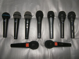 Microphones , Shure , AKG , JBL , TC-Helicon , Sennheiser , VoiceLive , Helicon Vocalist.