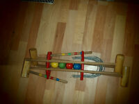 Child's Croquet set ,get out in the fresh air