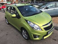 2010/10 CHEVROLET SPARK 1.2LT,5 DOOR,2 OWNERS,£30 ROAD TAX,EXCELLENT ECONOMY,LOOKS AND DRIVES WELL