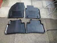 Genuine Toyota CHR rubber car mats.