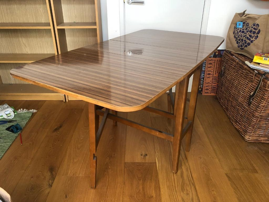 Magnificent Retro Folding Wooden Table In Woodstock Oxfordshire Gumtree Download Free Architecture Designs Intelgarnamadebymaigaardcom