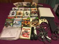 Early Xbox 360 ,1 controller,assorted games