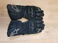 Alpinestars 365 GTX leather gore-tex gloves.