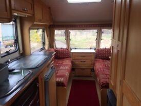 Elddis Avante 505 5 Berth 2005 Caravan with Purple Line Remote Mover