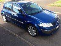 2006 06 Renault Megane Maxim 1.6 vvt Blue 24,300 miles FSH 1 owner MOTd Alloys AC CD HPi Clear £1595