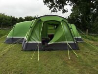 Hi gear zenobia 6 berth tent, with porch, foot print and carpet set