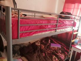 Silver bunk bed for sale. In great