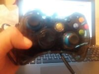 Xbox 360 controler (dark see through)