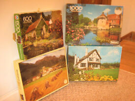 SELECTION OF 4 JIGSAW PUZZLES