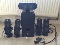 Logitech X-530 5.1 speaker set (5 speakers + sub-woofer!)