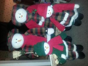 Selling Snowman family and calander countdown snowman