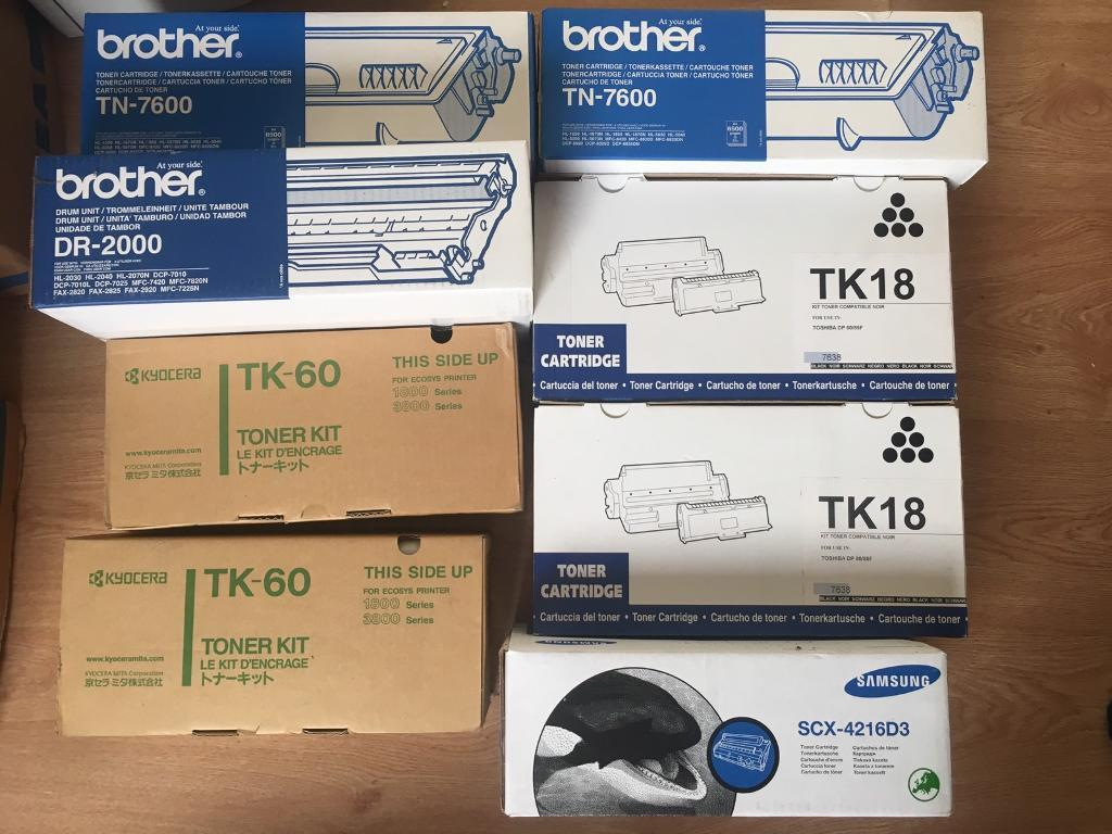 22 pieces new toner for salein Barnet, LondonGumtree - 22 pieces new toner for sale. The price is for the full pack. Collection only from Mill Hill NW7. cash