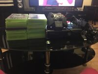 Xbox 360 with 2 controllers, 20 games and controller charger
