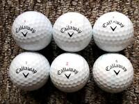 6 Callaway Chrome Soft golf balls in immaculate condition 4 piece high performance £3 a pop new