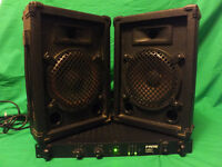 FAME a-200 Reference Amplifier + Stage line 200W wedge monitor speakers + Manual