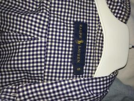 Ralph Lauren shirt size small blue gingham check