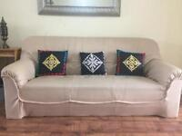 1 three seater,1 two seater,1 one seater faux leather sofa