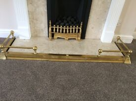 Brass fender / fire surround