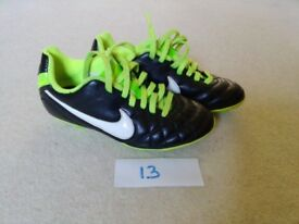 NIKE football/rugby boots size 13