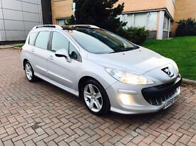 Peugeot 308 1.6 hdi sport in stunning condition full service history Panoramic roof cruise control